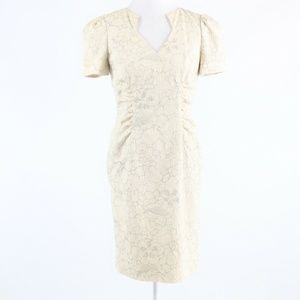 Light beige gray floral AIDAN MATTOX dress 4